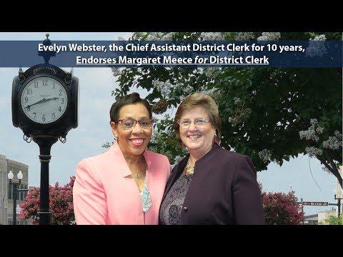 Evelyn Webster Endorses Margaret Meece
