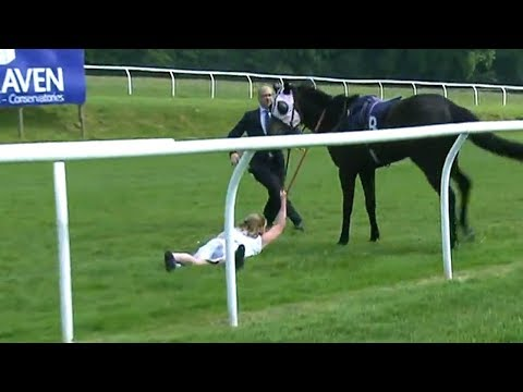 The Races Presenter tackles racehorse May 23. 2018