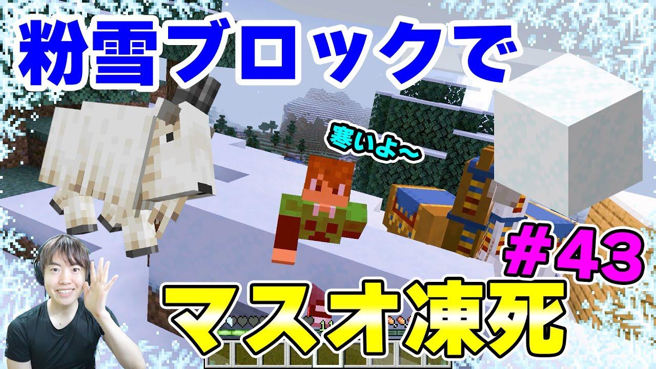 【マスクラ2021】粉雪ブロックでマスオ、凍死しました。!Ver1.17#43