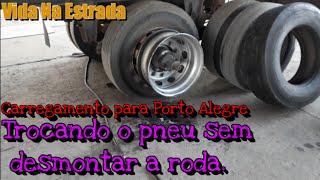 Trocando o pneu sem desmontar a roda 🤤