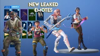 Fortnite | New Leaked Emotes! (Glitter, Guitar Walk, Billy Bounce & More!)