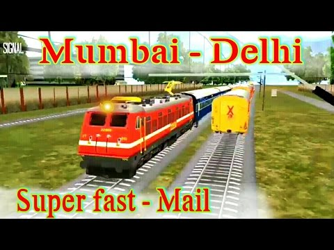 Mumbai-Delhi super fast mail,game not responding after Vadodara|Indian train simulator