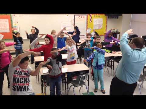 4th Grade Geometry Simon Says with Mr. Talcott's Class