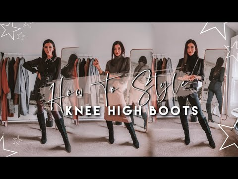 How To Style Knee High Boots | Oufit Ideas For Knee High Boots This Autumn / Winter