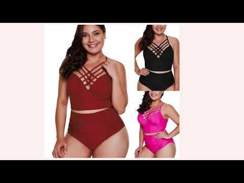 Модные купальники для полных женщин 2020! Fashionable Swimwear For Obese Women 2020!