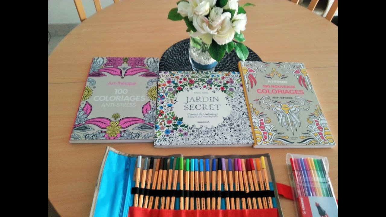 coloriage anti stress feutre ou crayon