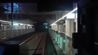 【電車かぶり付き】開業はまだですが照明が付いた!高輪ゲートウェイ【山手線外回り】