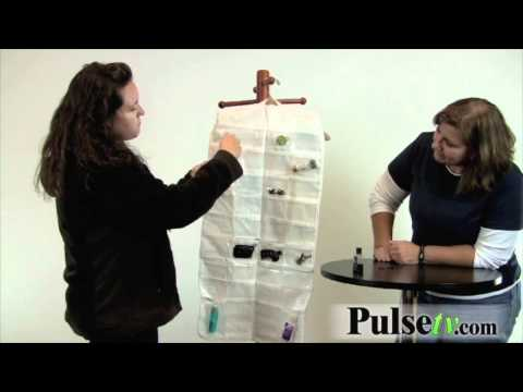 Double-Sided 72-Pocket Jewelry Hanger