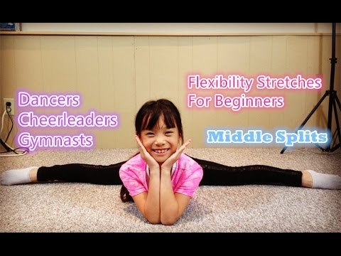 How to get middle splits for beginners (Easy to Learn) Flexibility Stretches - Gymnastics & Dance