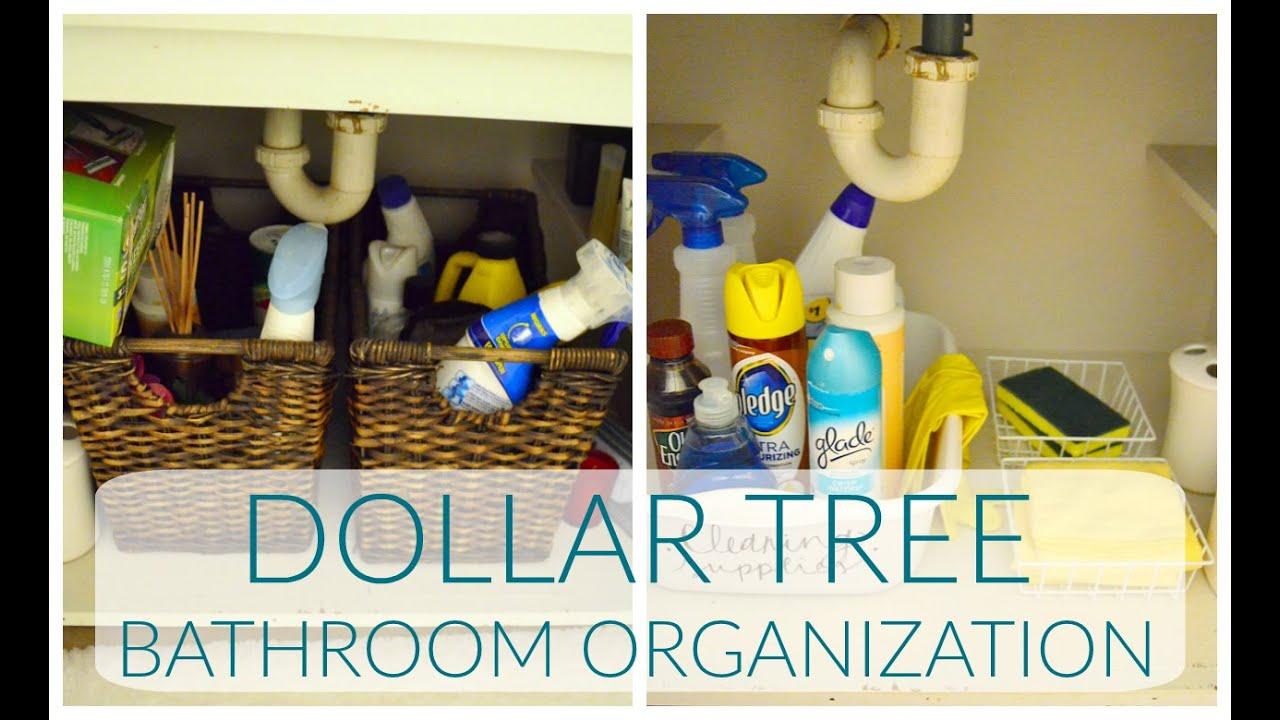 Dollar Tree Bathroom Organization Ideas | Dollar Tree Haul ...
