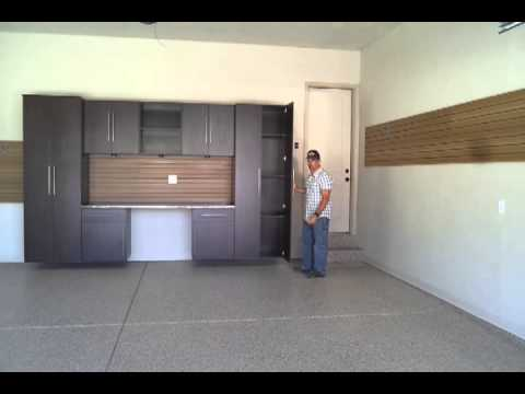 Garage remodel garage cabinets epoxy flooring park city for Garage remodel