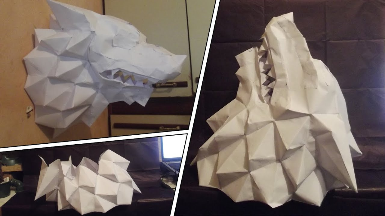 Papercraft Papercraft Lobo / Wolf GAME OF THRONES