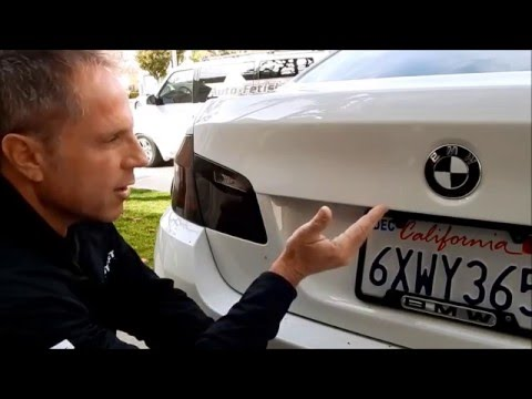 Do it yourself car badge removal: BMW 528i x-drive tutorial and interview with Darren's customer.