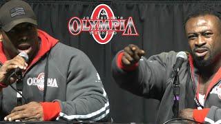 Cedric vs William   Mr. Olympia Press Conference 2018