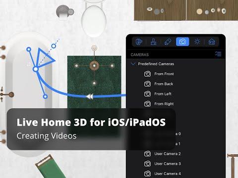 Live Home 3D for iOS / iPadOS Tutorials - Creating Videos