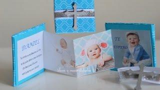 Invitaciones para bautizo niña
