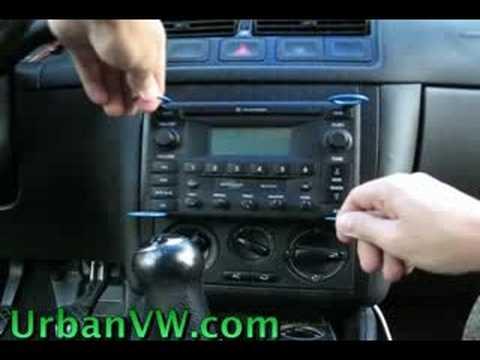 How To Remove Radio Unit on VW Volkswagen - YouTube
