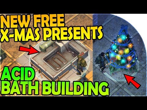 NEW FREE CHRISTMAS PRESENTS + BUILDING the ACID BATH - Last Day On Earth Survival 1.6.12 Update