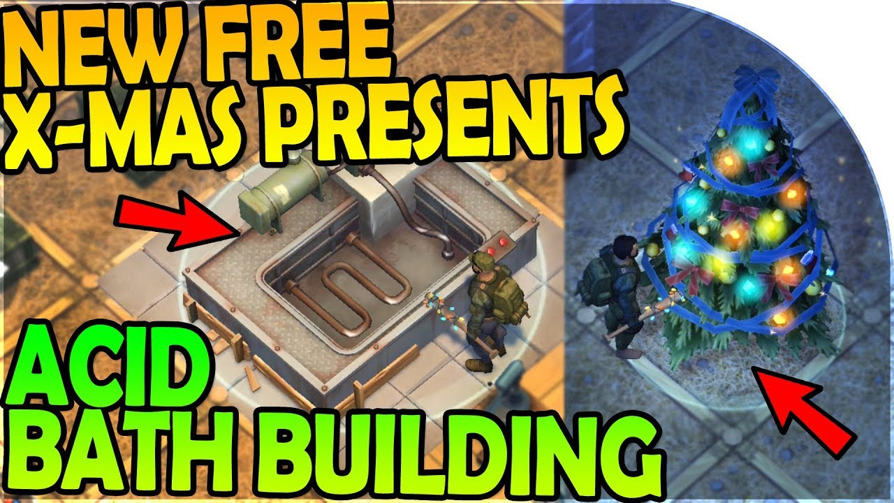 new free christmas presents building the acid bath last day on earth survival 1612 update
