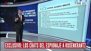 EXCLUSIVO | Los chats y los audios del espionaje macrista al juez Carlos Rosenkrantz