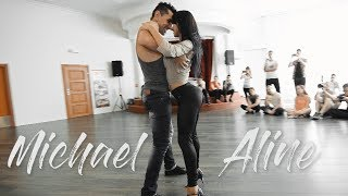 Zouk Dance - Michael Boy  & Aline Borges  Bachaturo  Holidays 2017  - Zouk demo improvisation