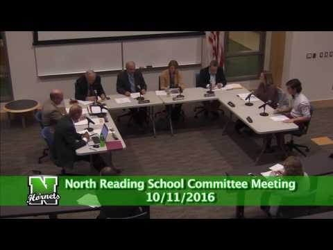 North Reading School Committee Meeting 10/11/16
