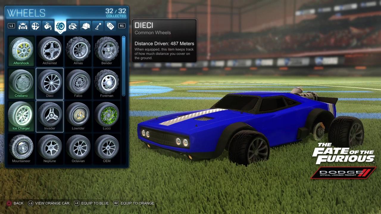 rocket league ice charger customization