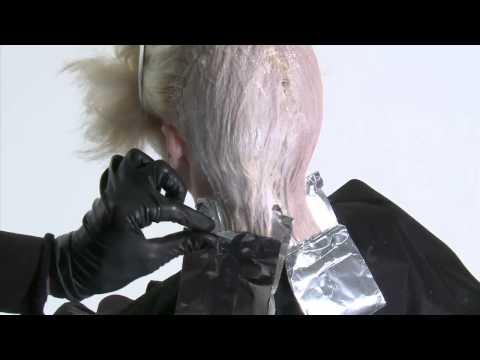 Переливающийся жемчужный блонд - видео-урок по креативному салонному окрашиванию
