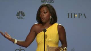 Viola Davis - Golden Globes 2017 - Full Backstage Interview