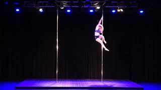 2018 US Pole Dance Championship Novice Level 1 Artistic Division - Meg