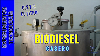 Como hacer Biodiesel a 0,20 euros el litro. Making excellent and cheap biodiesel at home.