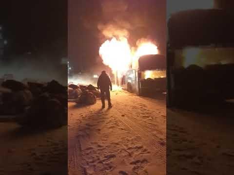 Пожар дагестанского автобуса