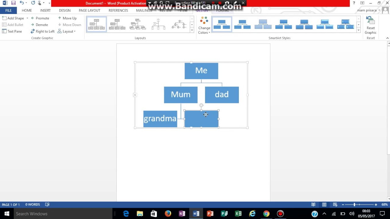 how to make a family tree in word youtube