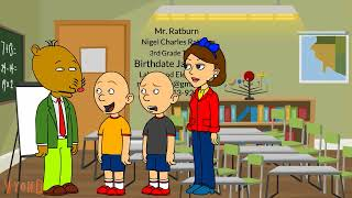 Classic Caillou Misbehaves at The Orientation