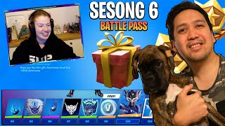 Sara får GRATIS Fortnite SESONG 6 BATTLE PASS av Lloyd❤️
