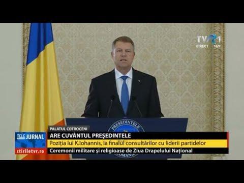 Mihai Tudose este prim-ministrul desemnat - declaraţii Klaus Iohannis