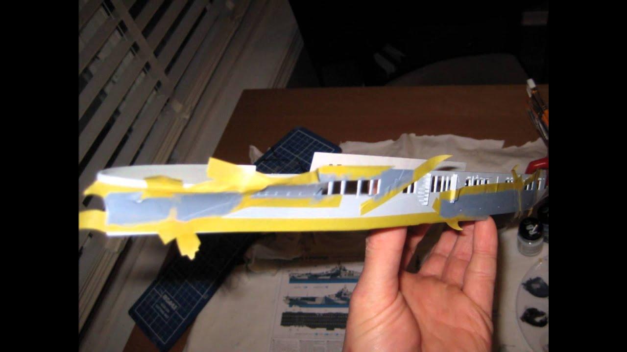 uss hornet  cv-12  a 1 700 scale model in progress