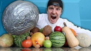 UNBREAKABLE DUCT TAPE FIST vs FRUIT NINJA (DANGER ALERT)