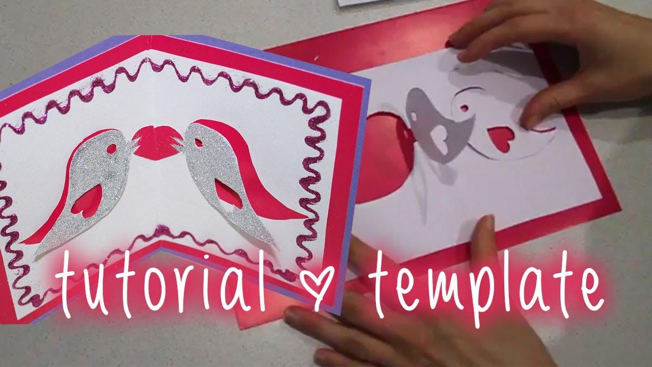 Tweet the love Valentine Pop Up Card tutorial FREE – Pop Up Valentine Card Template