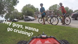 henry the fpv rc car likes to race bicycles filmed with gopro