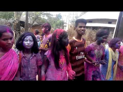 New Santali Dance Holi Fastival