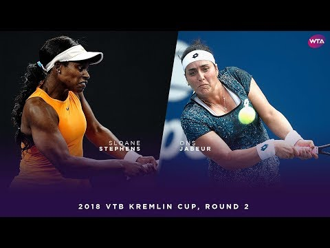Sloane Stephens vs. Ons Jabeur | 2018 VTB Kremlin Cup Round Two | WTA Highlights