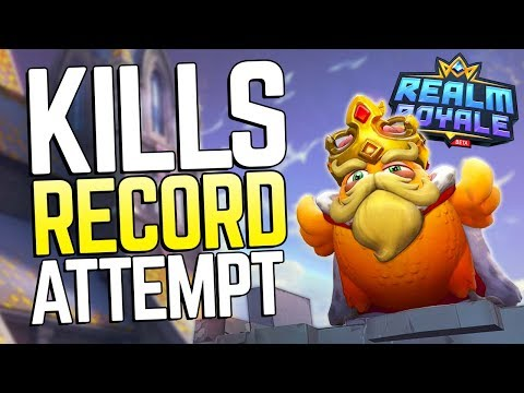 Going for the Kills World Record in Realm Royale! | Solo-Duos vs Squads