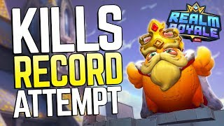 Going for the Kills World Record in Realm Royale! Solo-Duos vs Squads