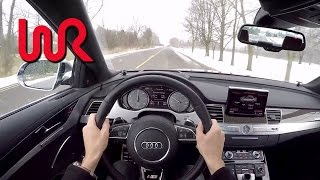 2015 Audi S8 4.0T Quattro - WR TV POV Test Drive(This week we're behind the wheel of the Audi's full sized luxury sedan, the refreshed-for-2015 A8, here in performance specification as the S8. The big Audi's ..., 2014-11-25T23:10:06.000Z)