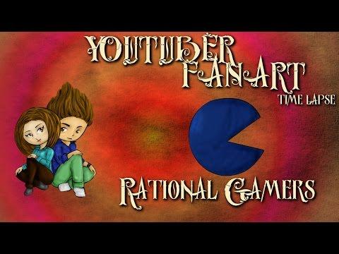 YOUTUBER FANART PART I -- RATIONAL GAMERS BLOODLUST (TIME LAPSE)