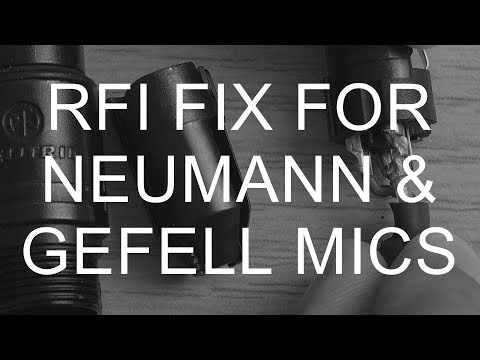 How To Fix RFI Radio Frequency Interference Neumann Microtech Gefell Microphone XLR Cable Mod Hack