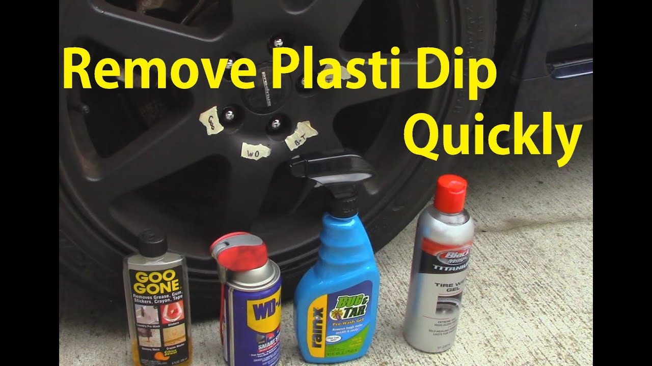 Plasti Dip Removal Comparison Which Is Best Youtube