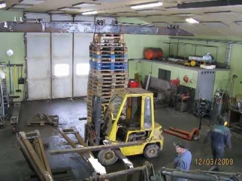 Gantry Crane Build In Workshop Youtube