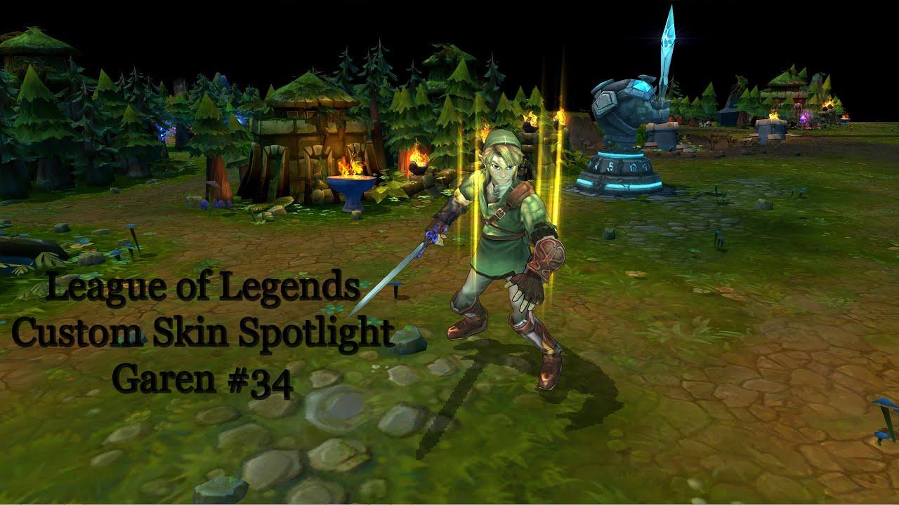 League Of Legends Custom Skin Spotlight Garen #34 | Link As Garen   YouTube